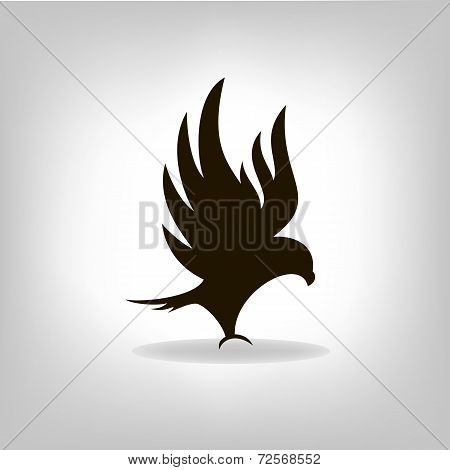 Black Eagle With Outstretched Wings
