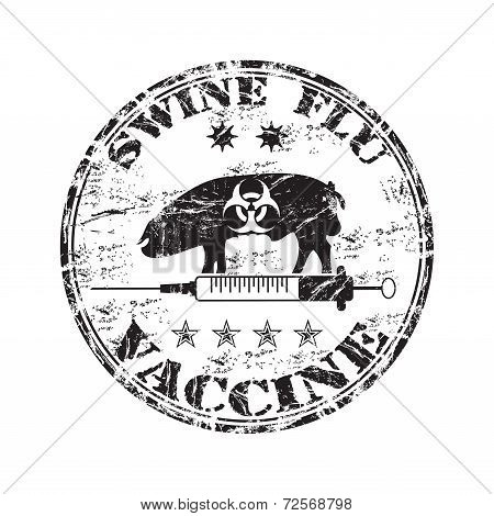 Swine flu vaccine stamp