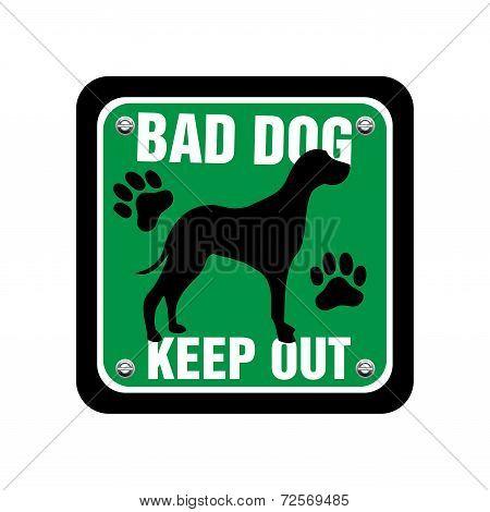 Bad dog plate
