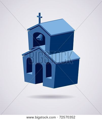 Vector 3D Symbol Of Church Building