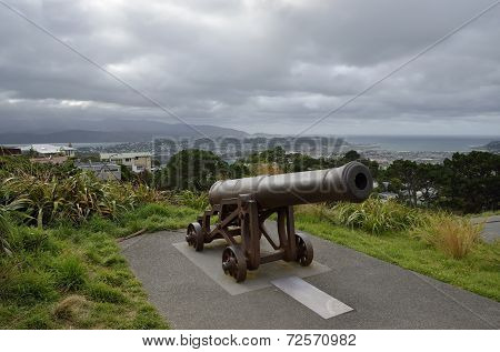 Old Cannon On Mount Victoria, Nz.
