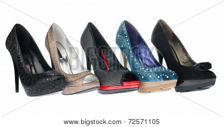 Five Pair Shoes Of High Heels