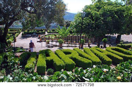 Ornamental Garden In Medieval Village Marvao