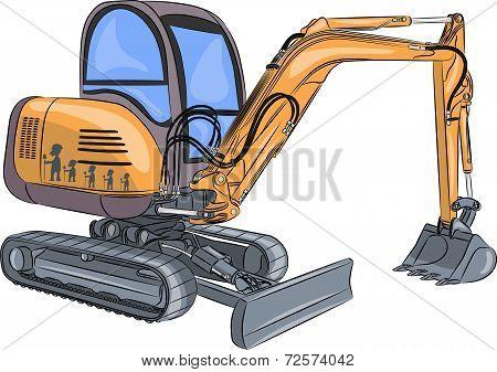 Vector Mini Excavator.