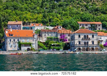 Village Of Perast On The Bay Of Kotor