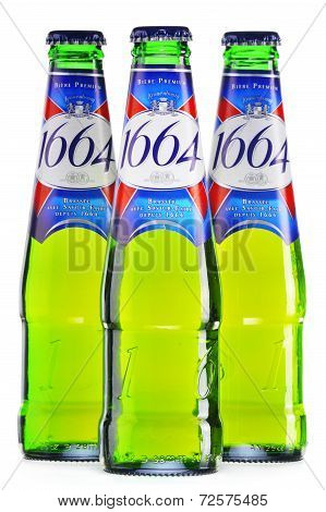 Bottles Of Kronenbourg 1664 Beer Isolated On White