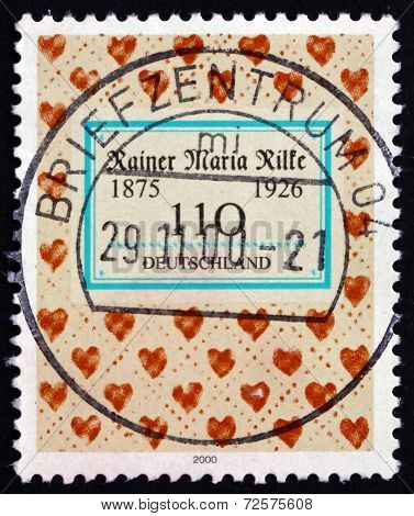 Postage Stamp Germany 2000 Rainer Maria Rilke, Poet