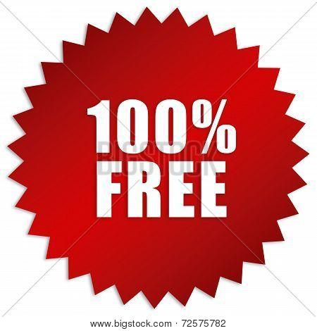 100 percent free sticker