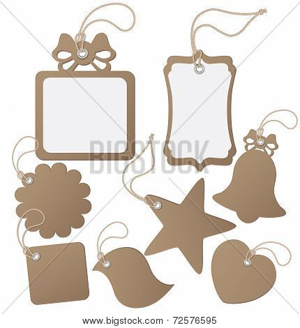 Set Ot Label (tag) Isolated On White. Vector Illustration