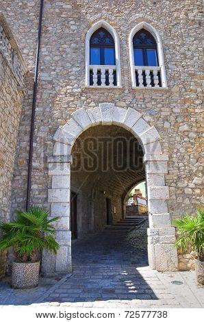 Ducal palace. Pietragalla. Basilicata. Italy.