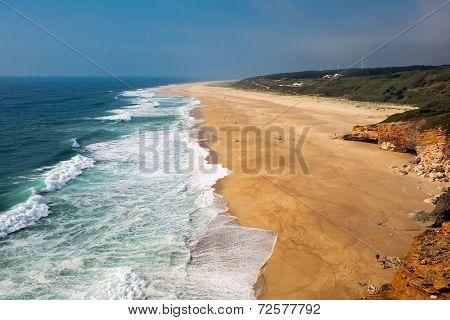 The beach north of Nazare