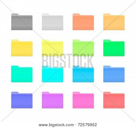 Colorful Folder Icons