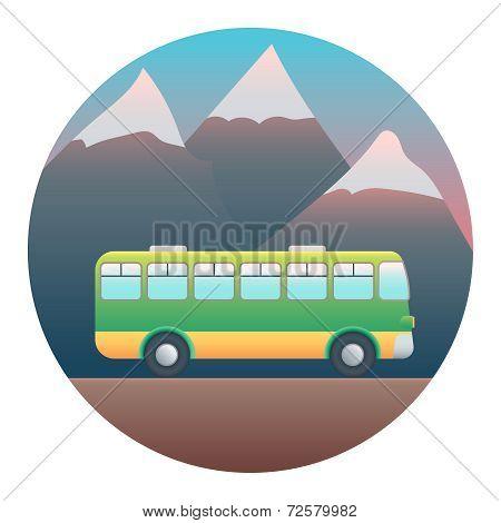 Bus Detailed Illustration