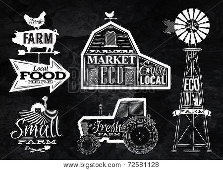 Farm vintage chalk