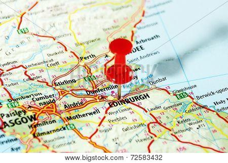 Edinburgh   Scotland  Map