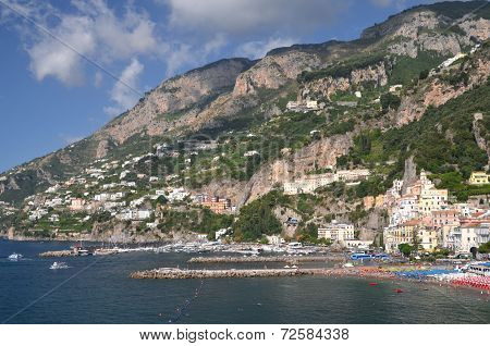Picturesque view of summer resort  Amalfi, Italy