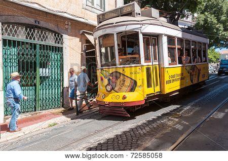 Famous Lisbon Tram Number 28