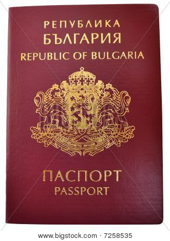 Bulgarian Passport In Close Up