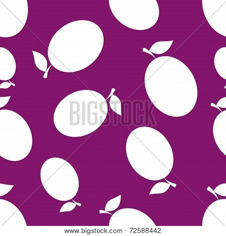 Pattern Silhouette Plums
