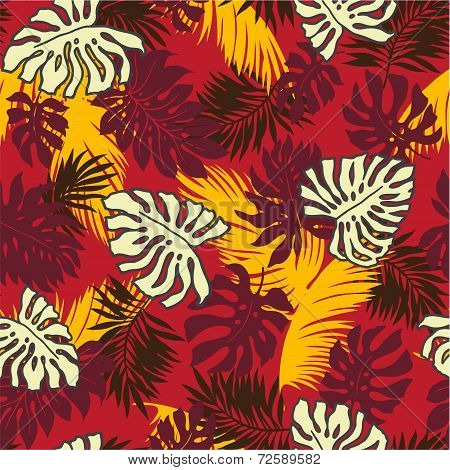 tropical plants pattern