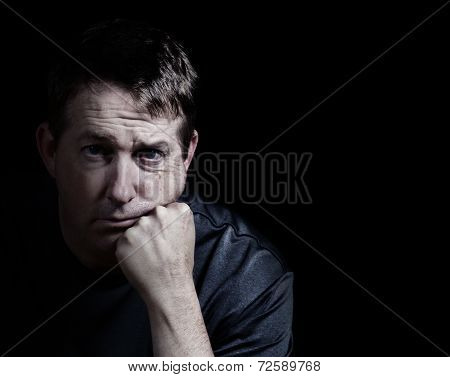 Man Showing Depression