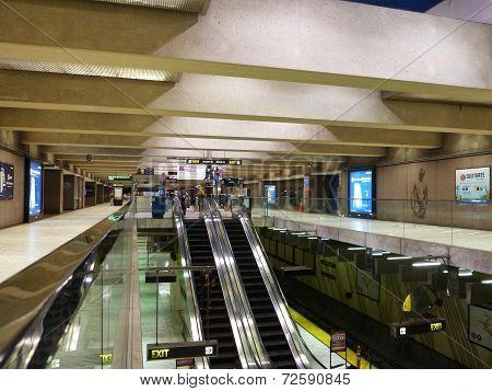 Inside Underground Embarcadero Metro Station In San Fransico