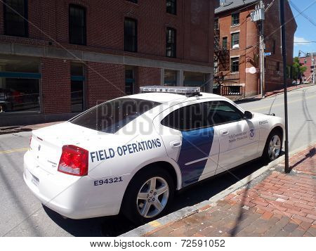 Us Customs And Border Protection Field Operation Car Parked On The Street