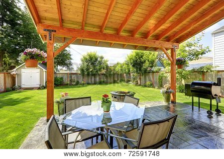 Patio Set With Glass Top Table And Chairs