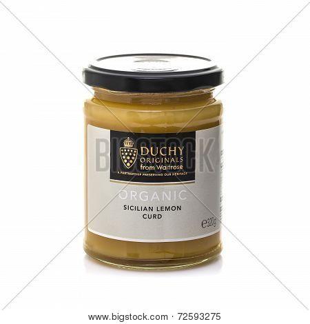 Jar Of Waiterose Duchy Oridginal Organic Sicilian Lemon Curd