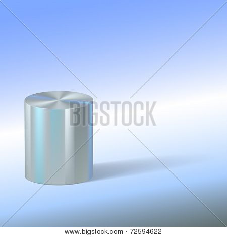 Cylinder with reflections on colored background