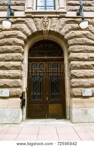 Old doors in the Swedish Riksdag