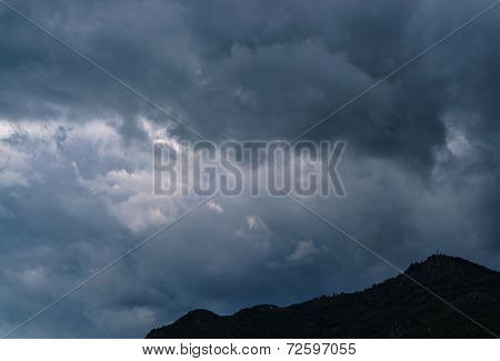 Cloudy mountain landscape