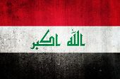 stock photo of iraq  - National flag of Iraq - JPG