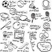 foto of ping pong  - Doodle sport equipment - JPG