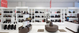 picture of department store  - bright and fashionable interior of shoe store in modern mall - JPG