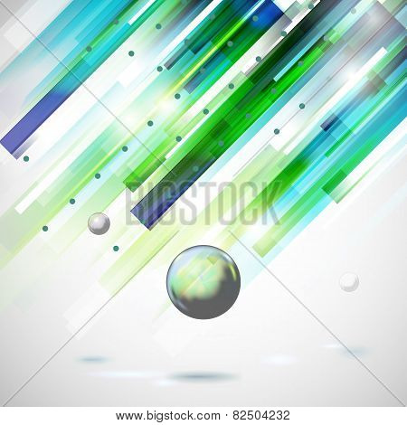 Abstract Technology  Geometric Rain Illustration