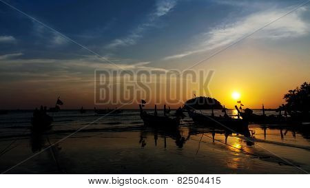 Colorful Sunset On  Kata Noi   Beach