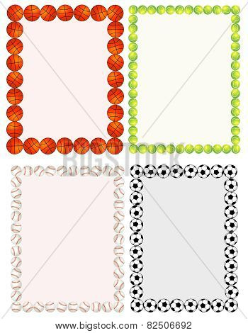 Sport Balls Border Collection