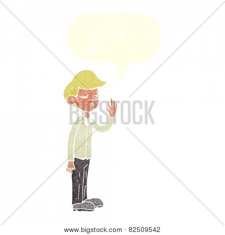 cartoon arrogant boy with speech bubble