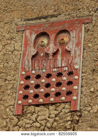 African decorative window