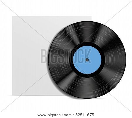 Abstract music background. Vinyl diskisolated on white background.