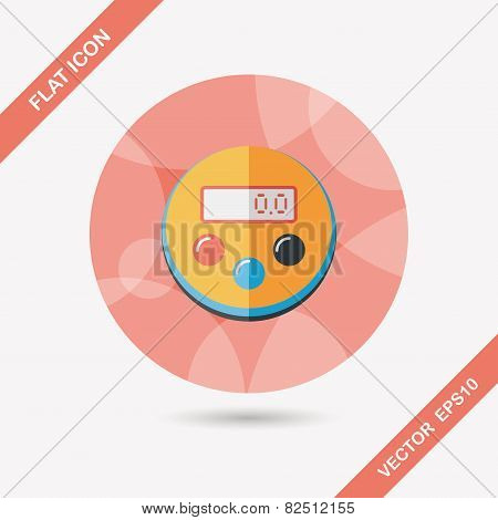 Kitchenware Timer Flat Icon With Long Shadow,eps10