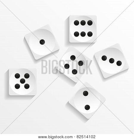 dice cubes. vector illustration. ESP format