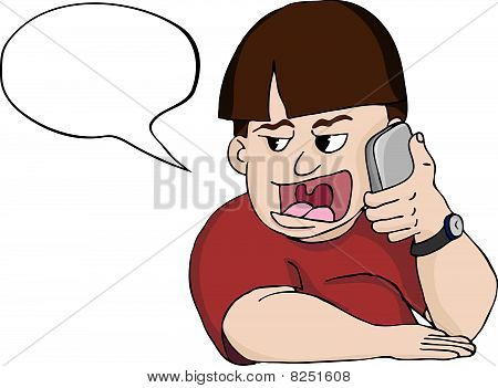 Loud Mouth Man on Phone