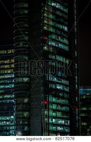 MILAN, ITALY, FEBRUARY 12 2015: new Unicredit Bank skyscraper, Milan, february 12 2014