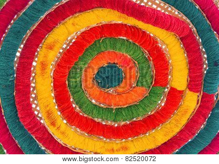 Colorful Of Raw Silk Thread For Background.