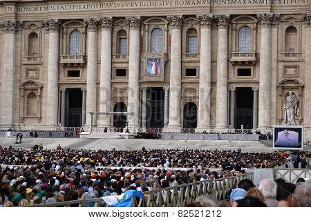 Papal Audience in St. Peter's Square Vatican
