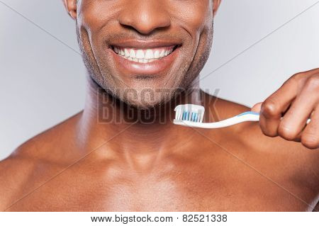 Man With Tooth Brush.