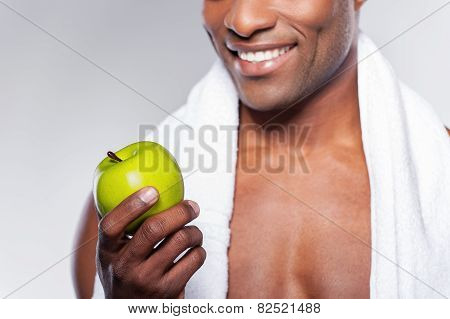 Man With Green Apple.