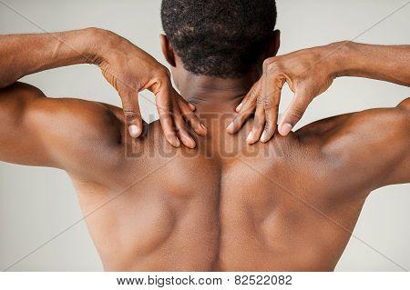 Muscular Black Man.